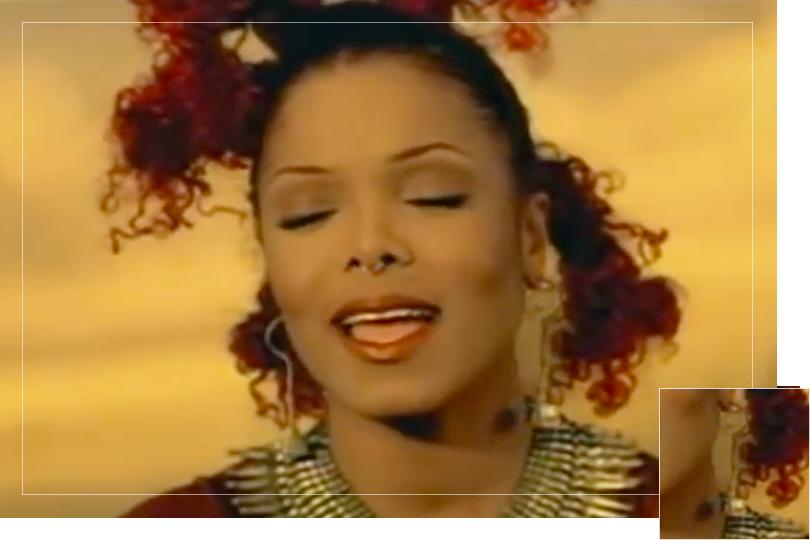 As seen on Janet Jackson from the Velvet rope