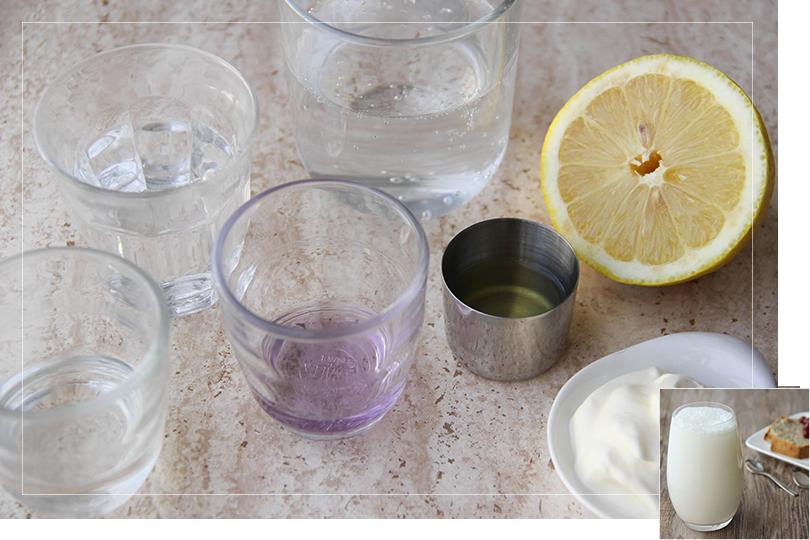 Fizz violette cocktail