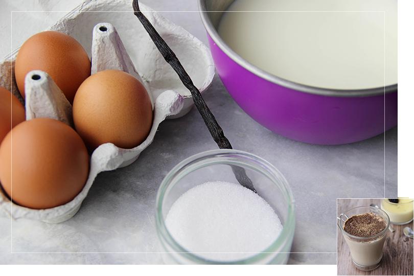 Vanilla cream entremet ingredients