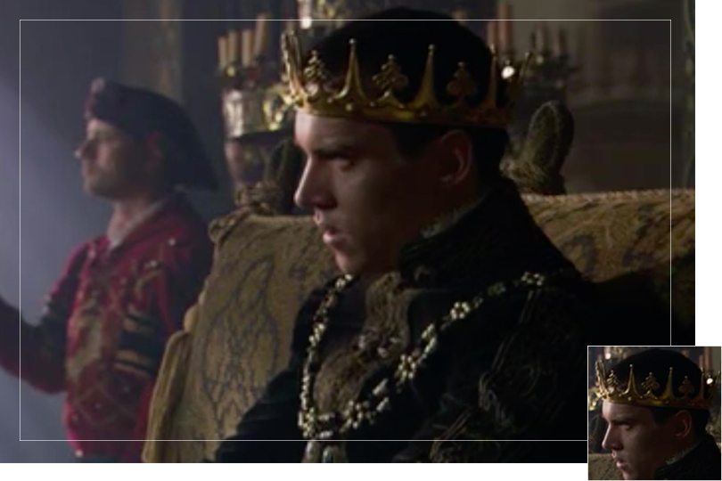 As seen on Henry VIII from the Tudors
