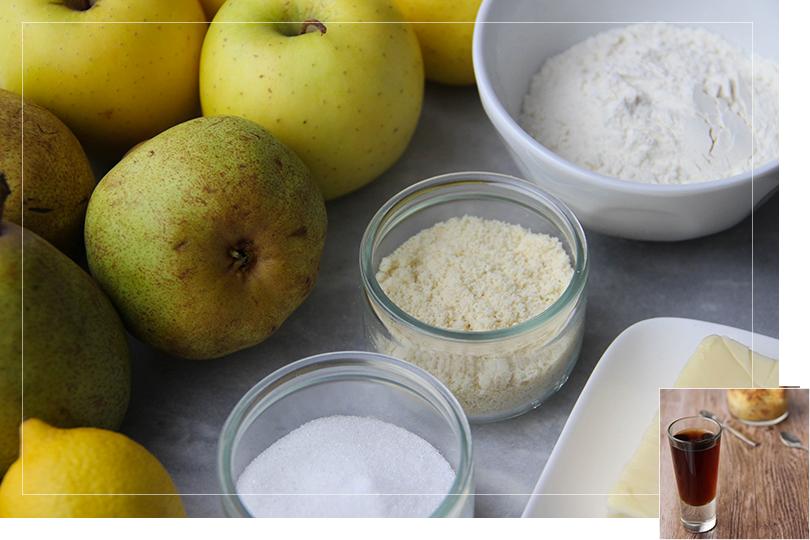 Apple pear crumble ingredients