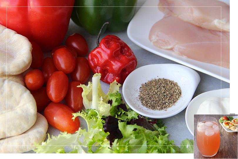 Spicy chicken pitas ingredients
