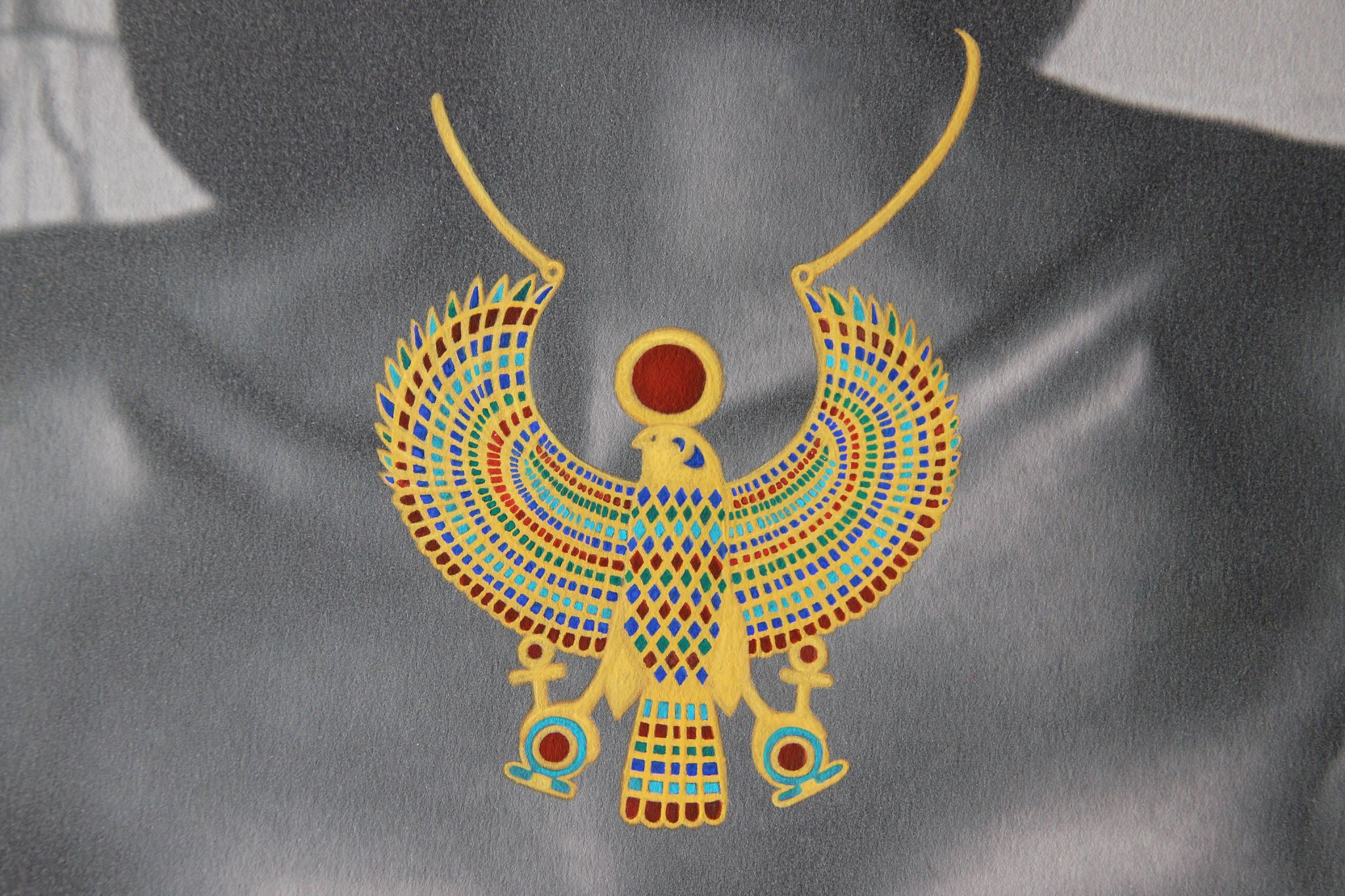 art drawing egyptian jewelry painting