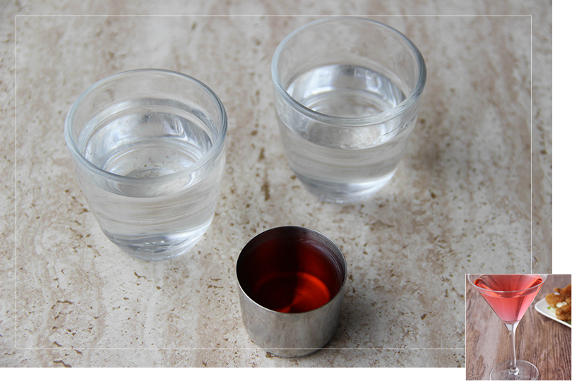 Martini litchi cocktail ingredients