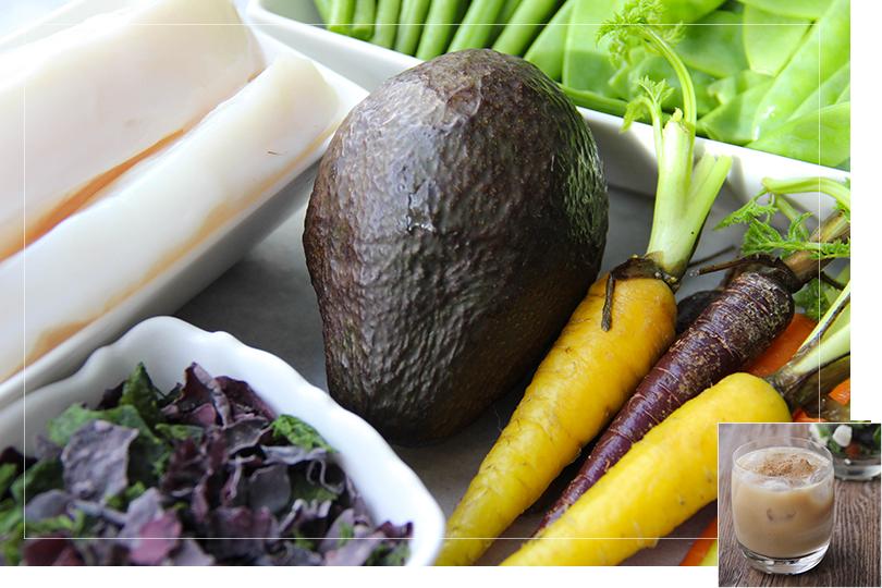 Squid and veggie sauté ingredients