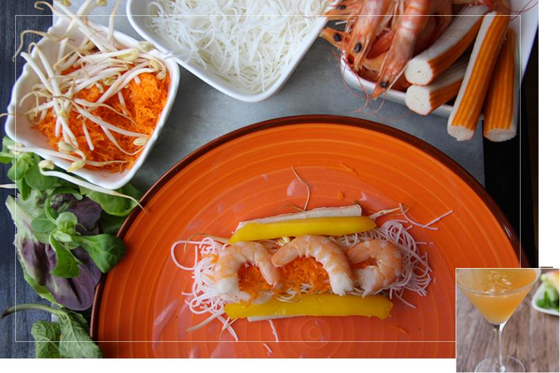 Shrimps springrolls