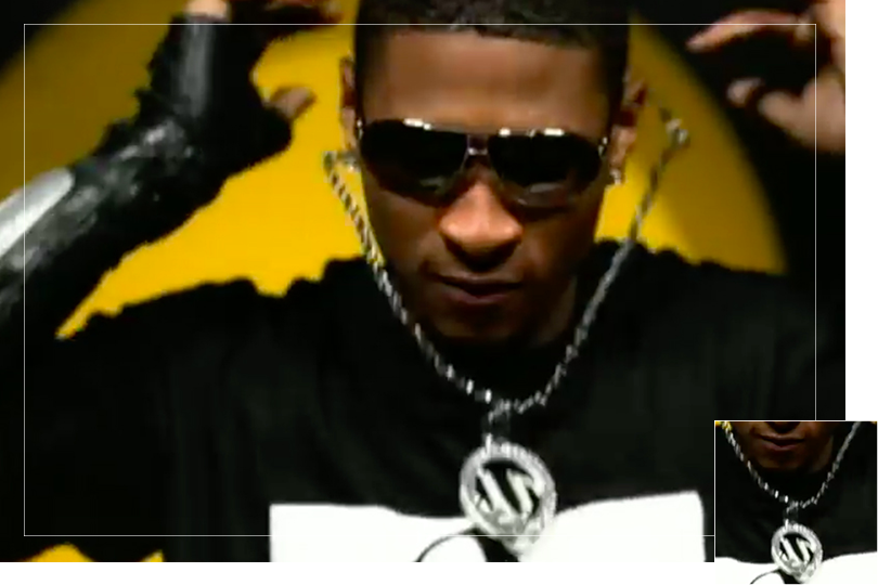 As seen on Usher from the 8701 album