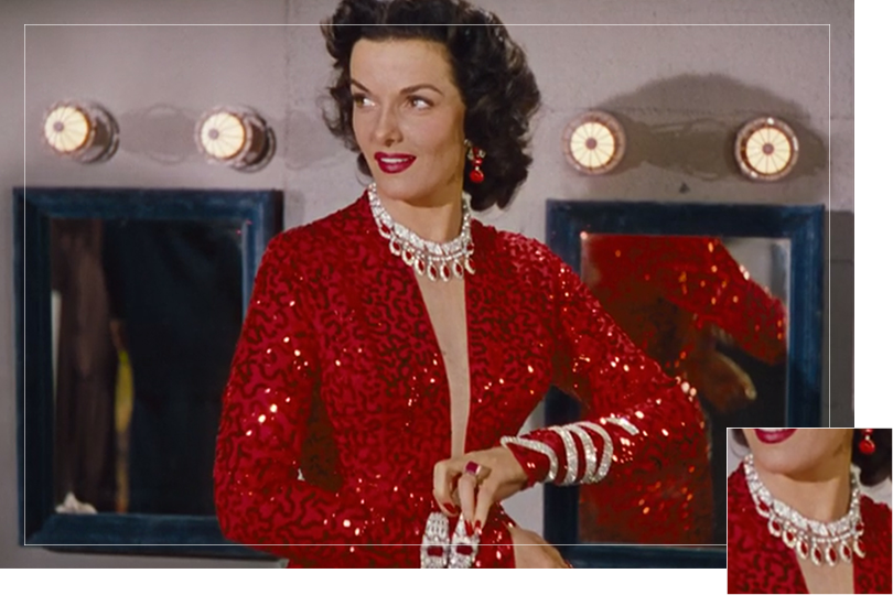 As seen on Dorothy Shaw from Gentlemen prefer blondes
