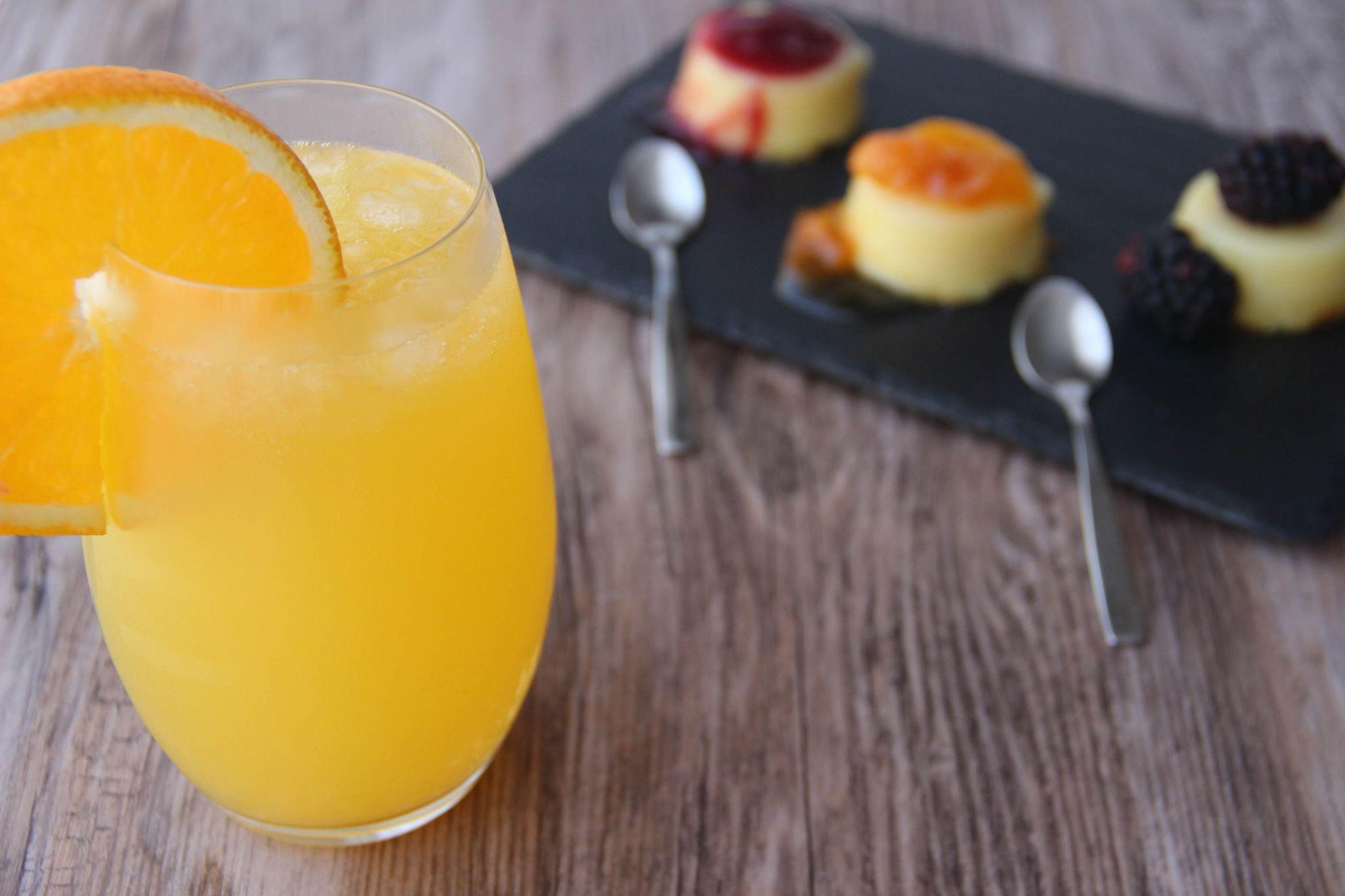Scorpio cocktail and vanilla custard