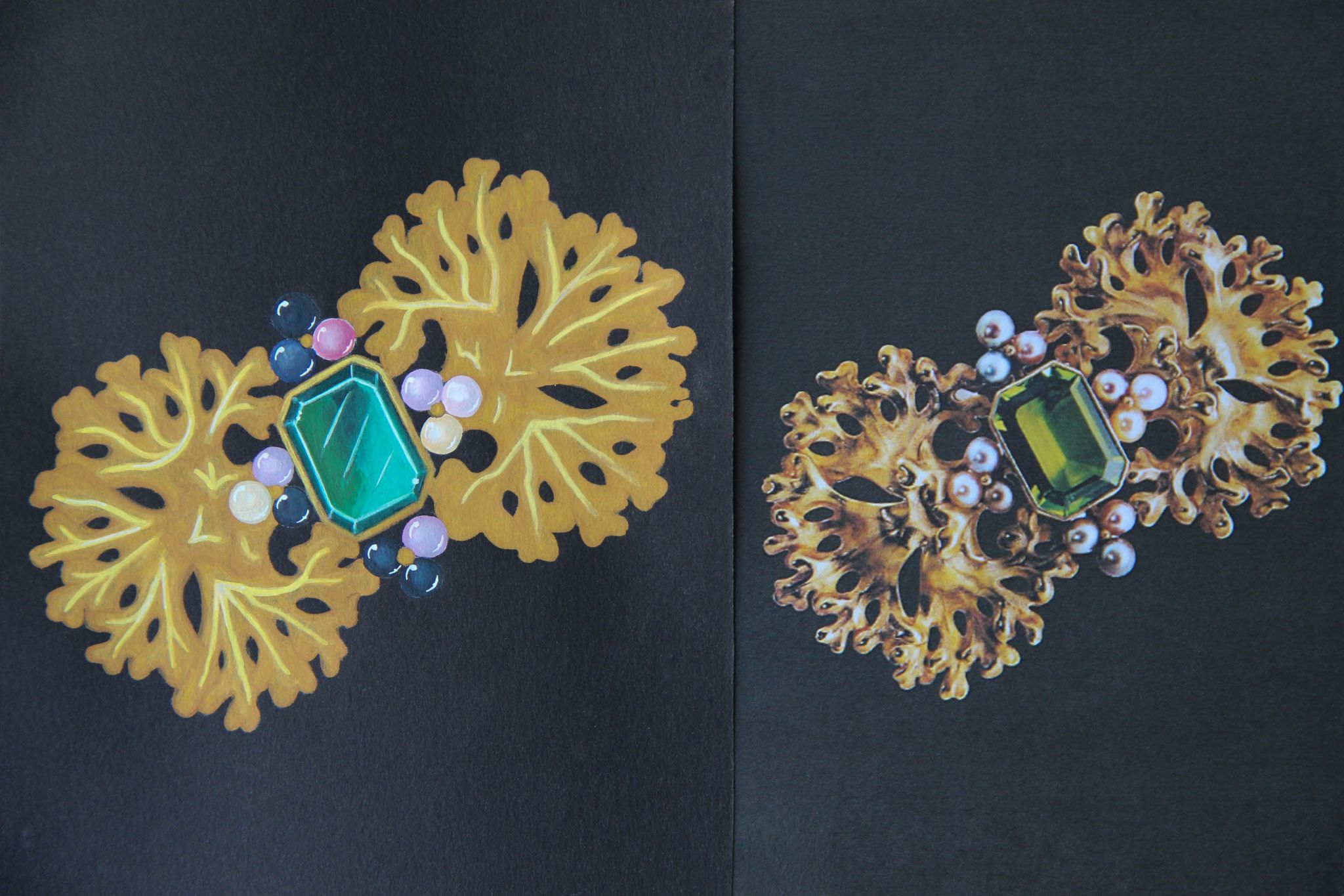 Shine & draw Jewelry drawing reproduction boucheron hair piece