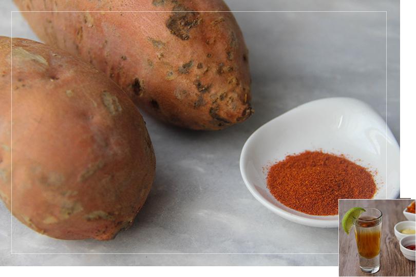 Sweet potatoe fries ingredients