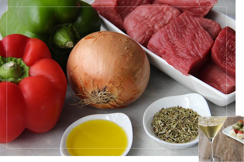 Rumsteack kebab ingredients