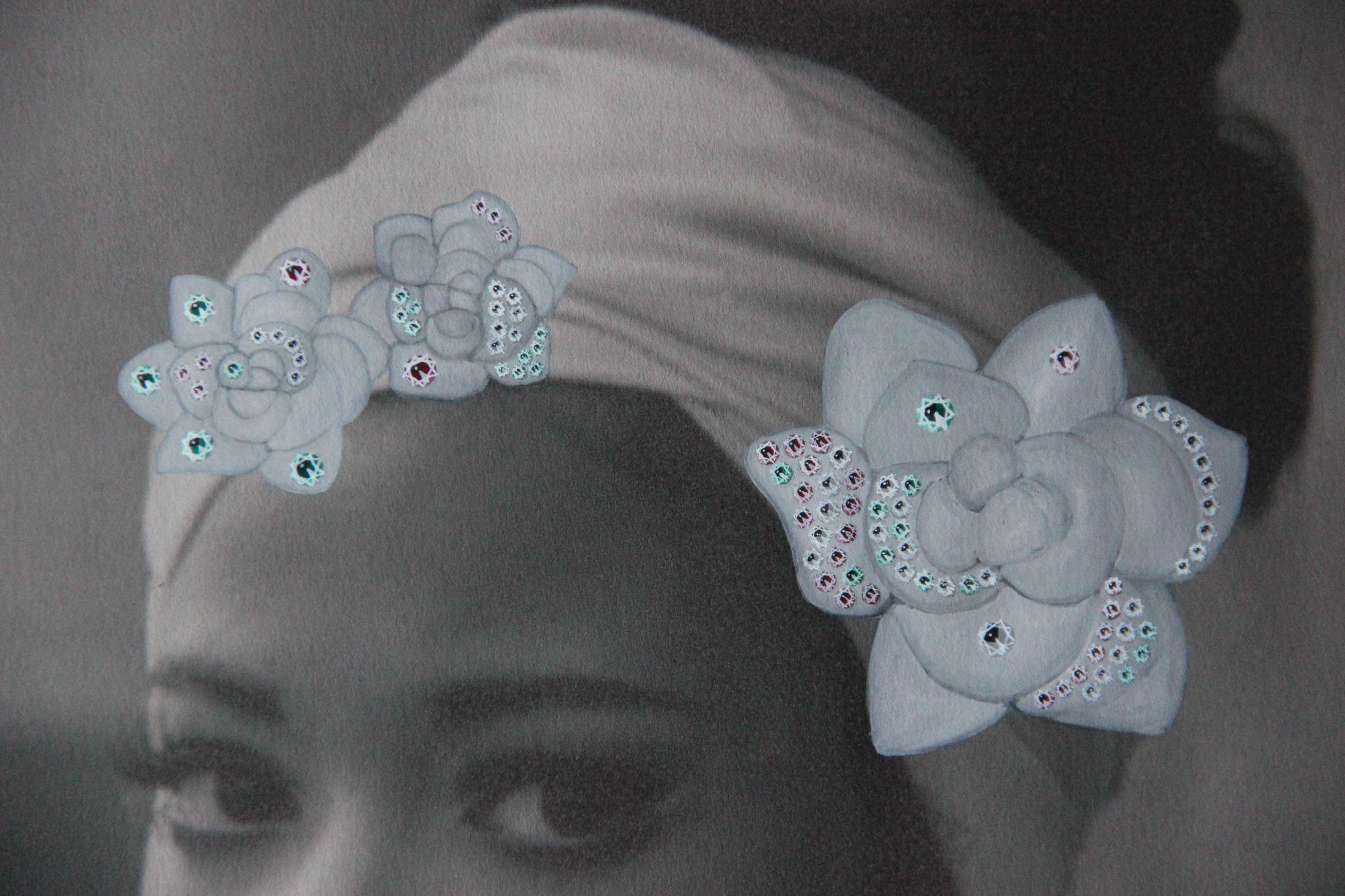 Shine & draw art jewelry hair piece