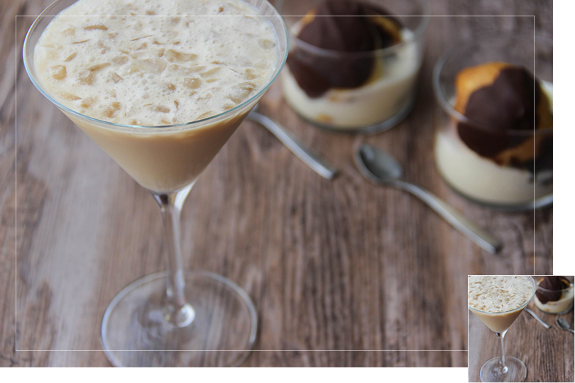 Chilling out cocktail and recipes irish coffee martini profiterolles