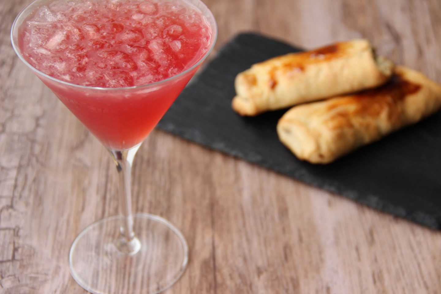 Chilling out cocktail and recipes strawberry cosmo and pain au chocolat