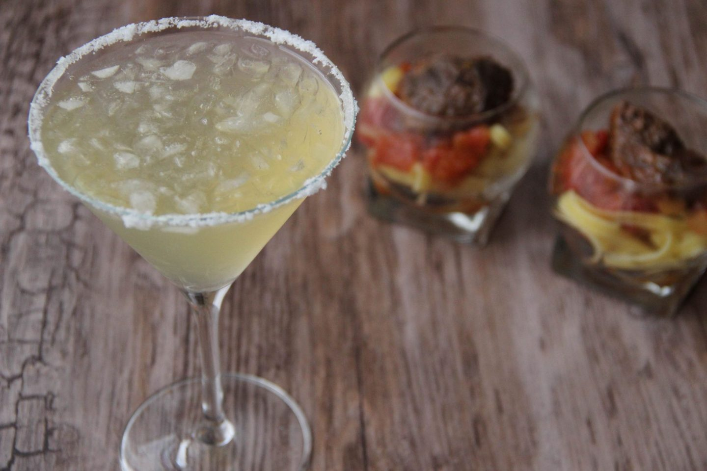 Chilling out cocktail and recipes mango Celtic margarita and osso buco