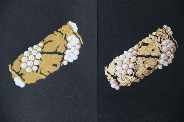 Shine & draw Jewelry drawing reproduction vine leaf bracelet