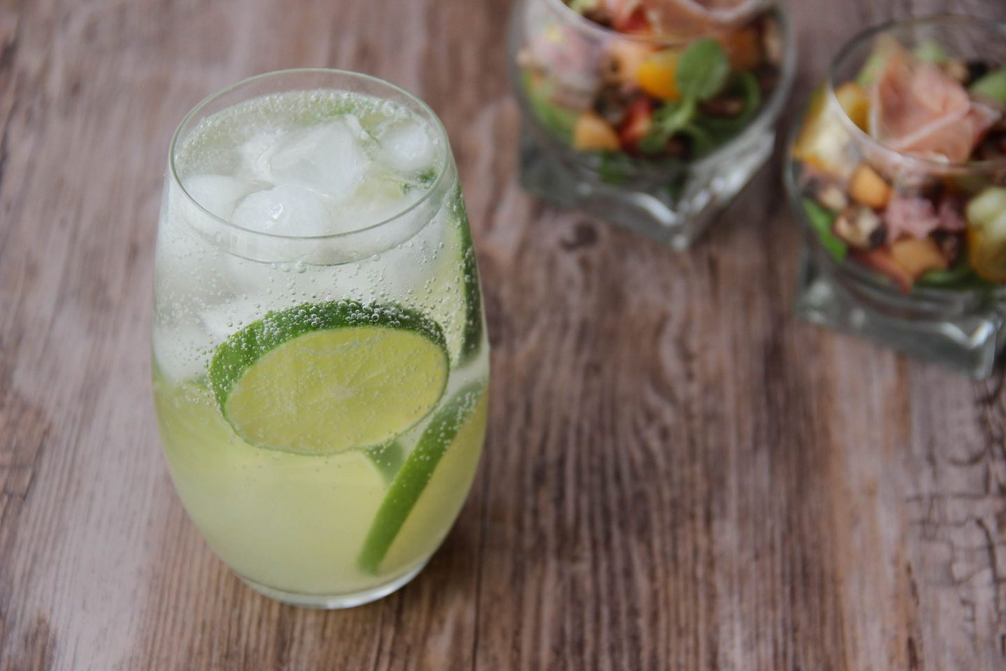 Chilling out cocktail and recipes salad gin rickey cocktail