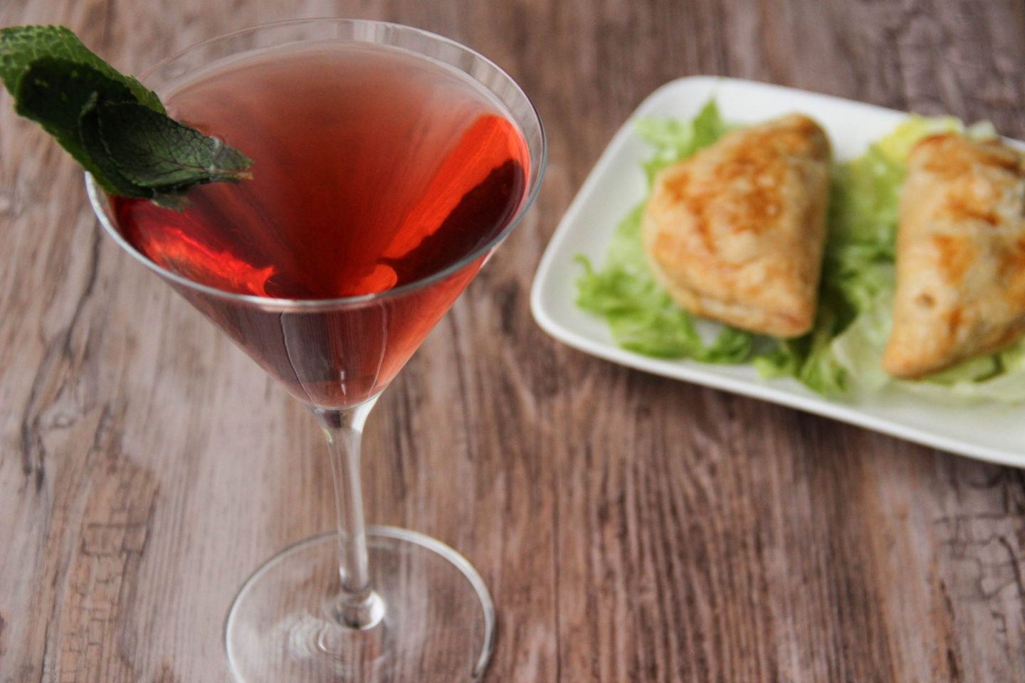 Chilling out cocktail and recipes empanadas mint cranberry martini cocktail