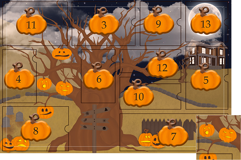13 days of halloween celebrations undercovertoad jewelry pumpkin heads