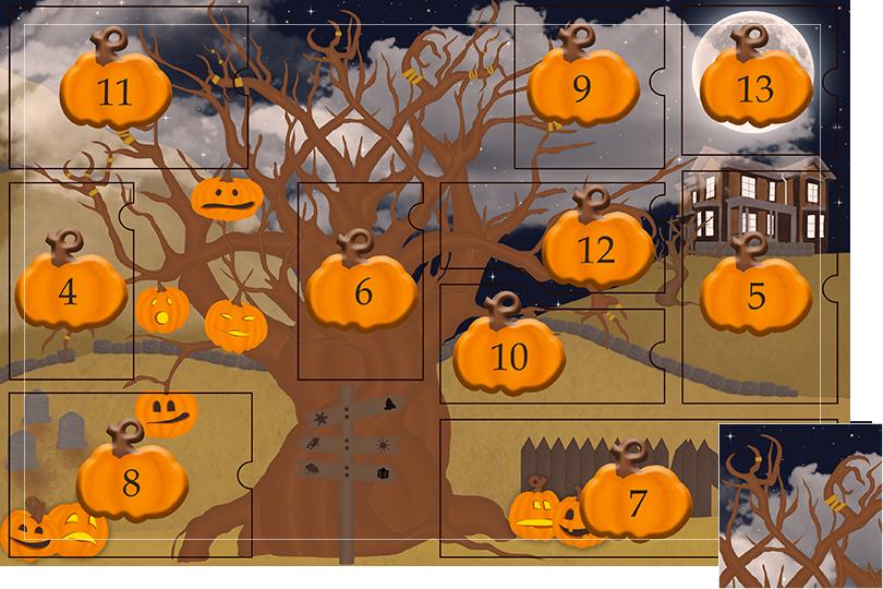 13 days of halloween celebrations undercovertoad jewelry tree hands