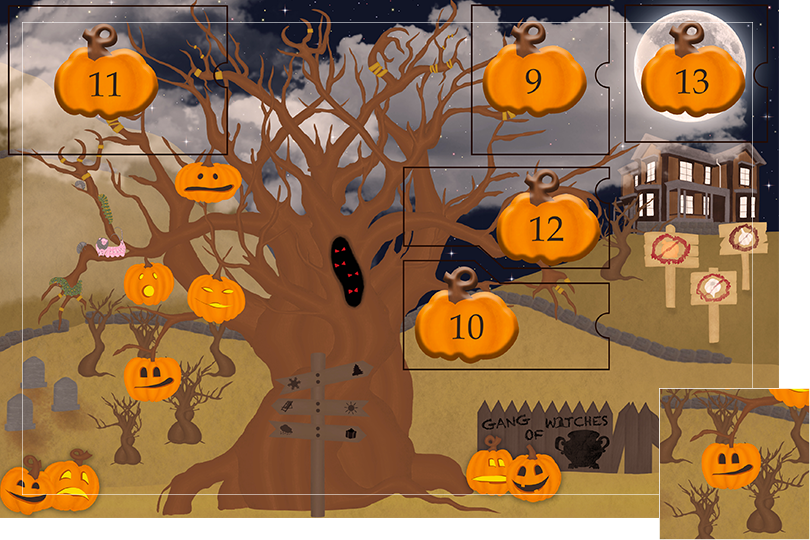 13 days of halloween celebrations undercovertoad jewelry dead trees