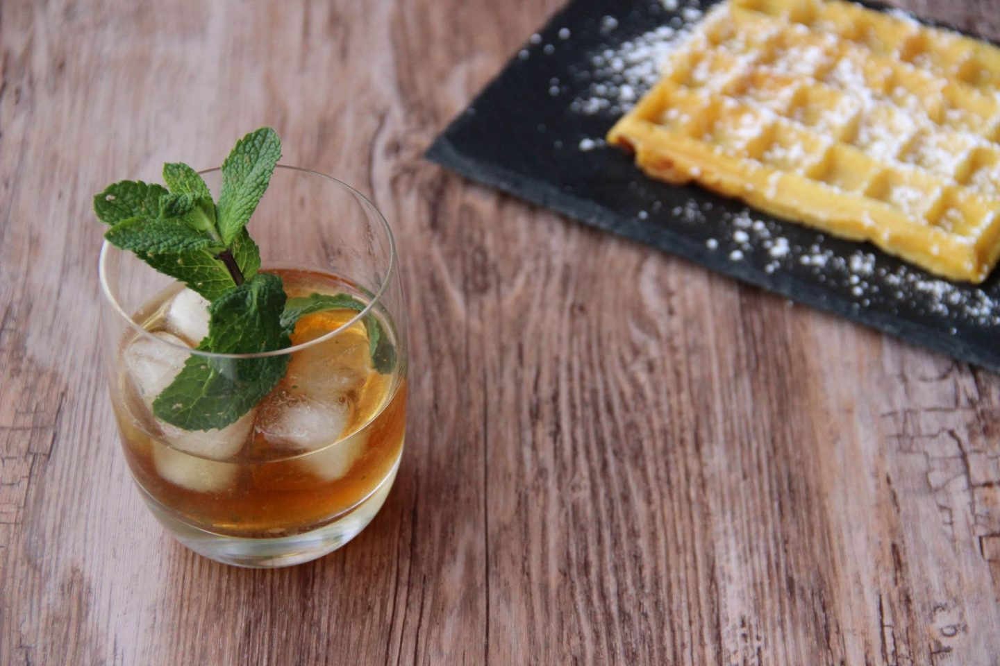 Chilling out cocktail and recipes pumpkin wafles and Brandy smash cocktail