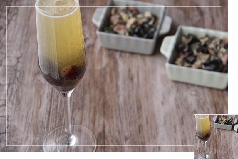 Chilling out cocktail and recipes snails sauté and Black magic cocktail