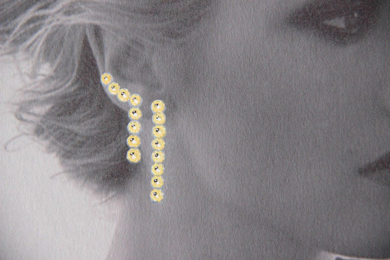 Shine & draw art jewelry yellow diamonds earrings