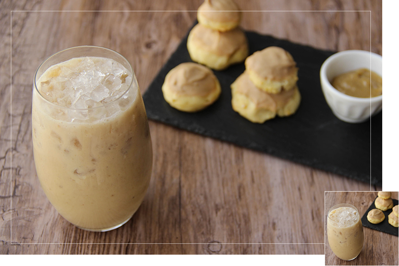 Chilling out cocktail and recipes coffee religieuse and dirty banana cocktail