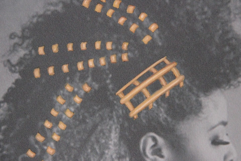 Shine & draw art jewelry copper hair piece
