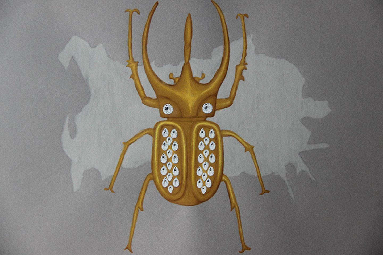 Undercovertoad zircon beetle drawing jewelry
