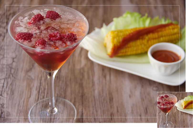 Chilling out cocktail and recipes spicy corn and cascade martini cocktail