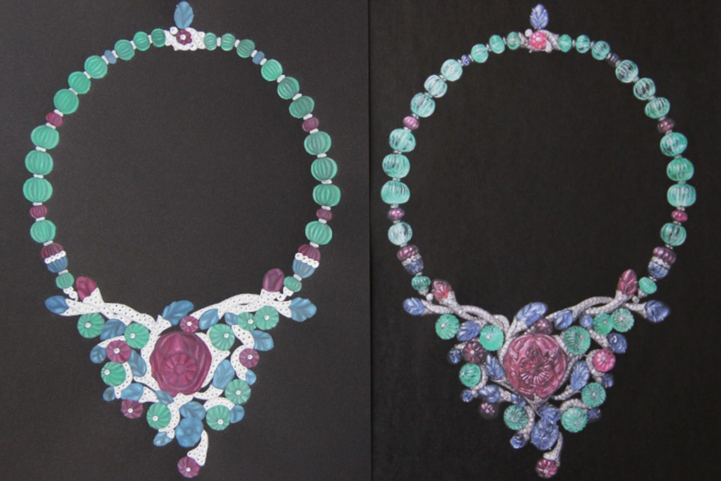 Shine & draw Jewelry drawing reproduction flora Cartier necklace undercovertoad